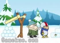 憤怒的卡通明星打雪仗