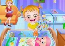 可愛寶貝照顧小嬰兒