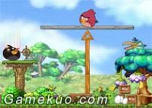 憤怒的小鳥平衡木