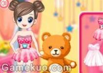女孩的泰迪熊