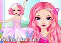 芭蕾舞者美髮換裝
