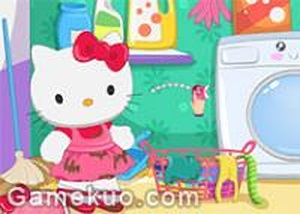 Hello kitty 洗衣服