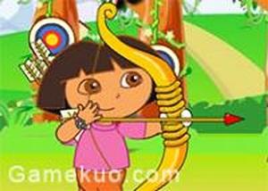 dora練習射箭
