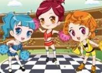 可愛三姐妹啦啦隊