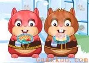小倉鼠冬天餐廳