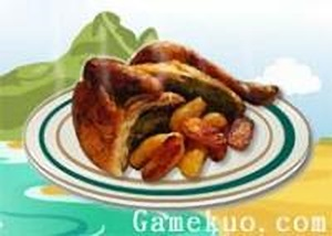 烤香草雞料理