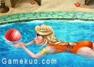 冰雪艾莎去游泳