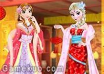 艾爾莎和安娜過中國年