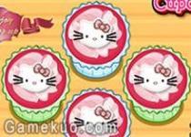 凱蒂貓紙杯蛋糕