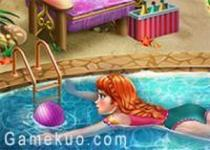 安娜去游泳