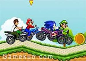 動漫明星摩托車賽