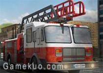 3D消防車路邊停車