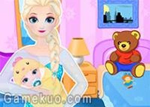 艾莎皇后生寶寶