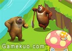 熊出沒森林裝飾
