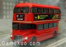 3D雙層巴士城市停車
