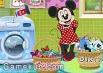 米妮洗衣服
