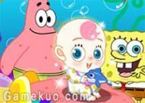 海綿寶寶派大星照顧嬰兒