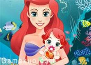 美人魚愛麗兒生寶寶