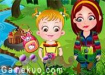可愛寶貝探索大自然