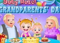 可愛寶貝慶祝祖父母節
