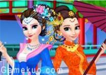 冰雪姐妹中國服換裝
