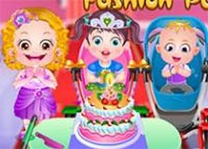 可愛寶貝參加生日派對