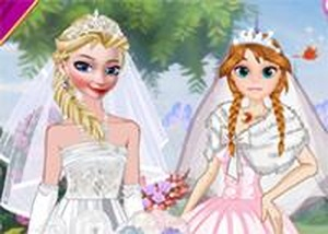 冰雪奇緣新娘婚禮裝扮