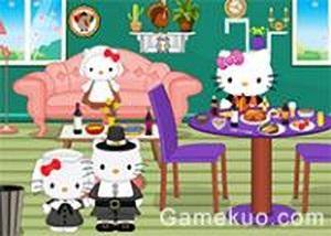 凱蒂貓佈置感恩節房間