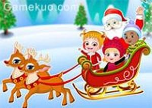 可愛寶貝的聖誕驚喜