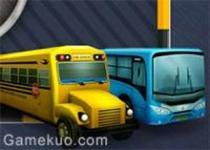 3D公共巴士停車場