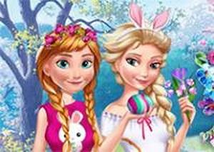 艾莎和安娜快樂復活節