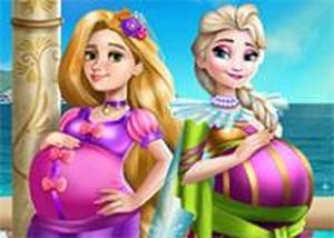 艾莎和長髮公主孕婦裝