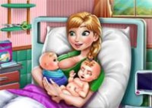 安娜雙胞胎寶寶出生