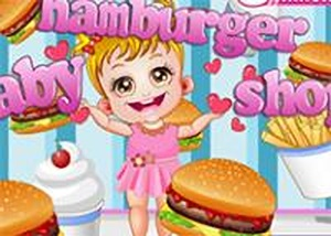 可愛寶貝的漢堡店