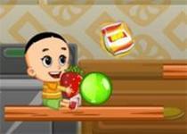 大頭兒子吃水果