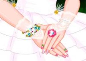 精靈芭比新娘美甲