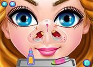 可愛的凱妮治療鼻子