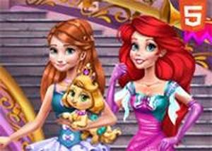 安娜和愛麗兒公主裝扮