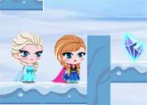 冰雪公主雪山冒險