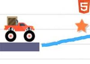 畫板上的貨車