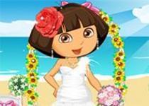 愛探險的朵拉新娘裝扮